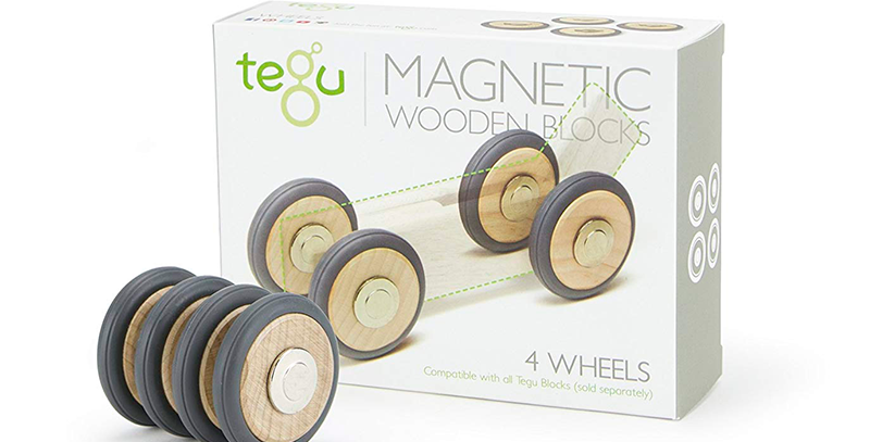 Magnetic Wooden Wheels Tegu: Magnetic Wooden Blocks  4 pieces