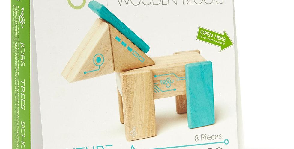 Tegu Magnetic Wooden Blocks - Robo