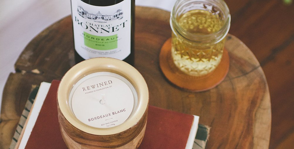 Rewined:  Bordeaux Blanc Barrel Aged Candle