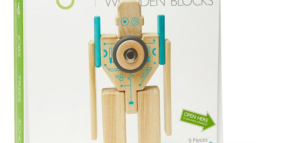 Tegu Magnetic Wooden Blocks - Magbot