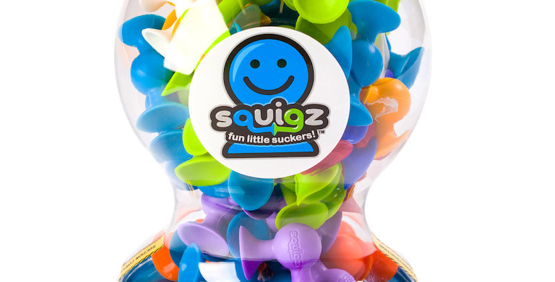 Fat Brain Toy Co: Squigz Deluxe Kit - 50 Pieces