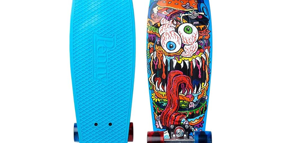 "Penny Skateboard - 27"" Burger Monster (Cyan)"
