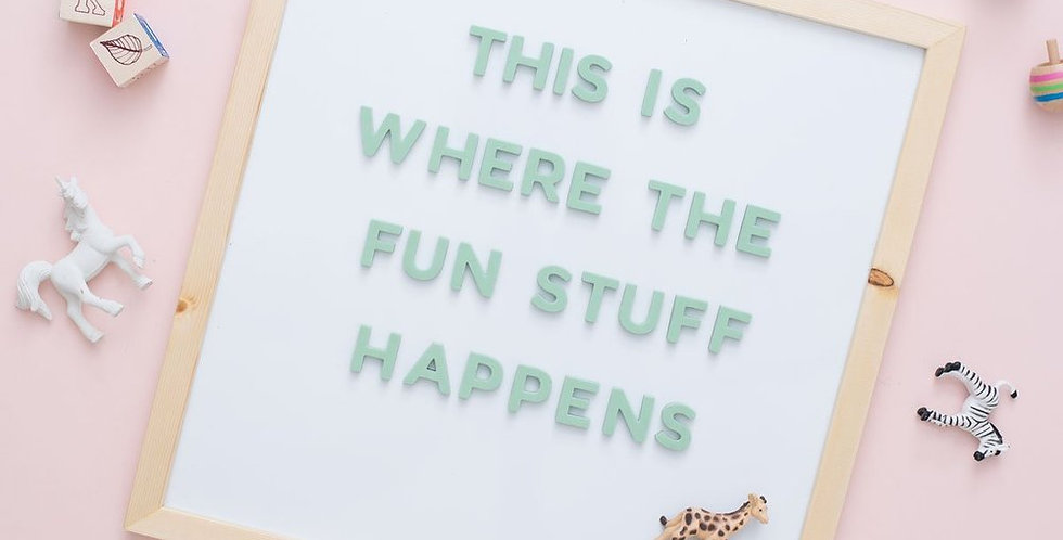 The Type Set CO - 15x15 White Magnetic Dry Erase Pine Letter Board