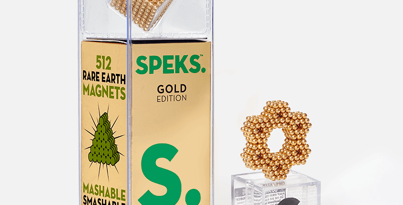 Speks - Gold Speks 2.5mm Magnetic Balls - 512 speks