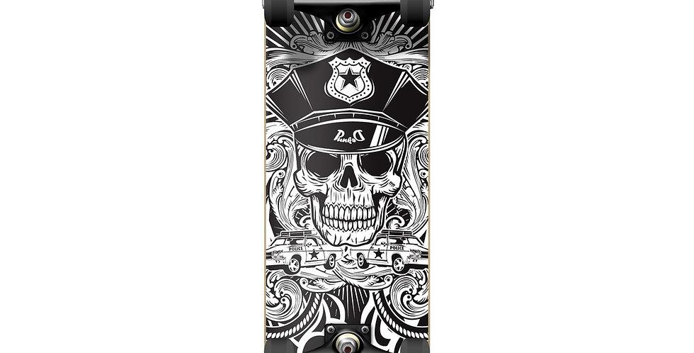 "Yocaher Skateboards: Graphic Complete Skateboard 7.75"" - Skull Cop"