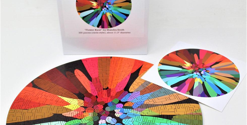 Bewilderness: Flower Burst Jigsaw Puzzle - 330 Pieces