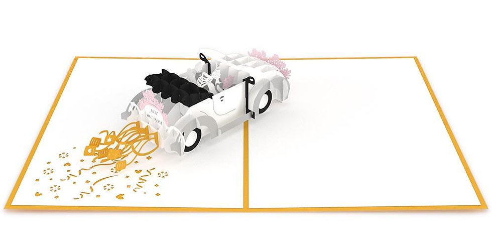 Wedding Car 3D card