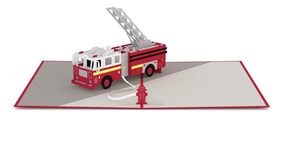 Fire Truck 3D card