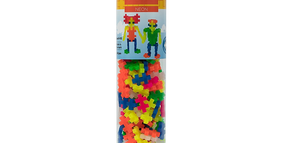 Plus-Plus: Open Play Tube - 240pc Neon Mix