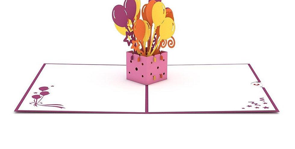 Balloon Bouquet Birthday 3D card