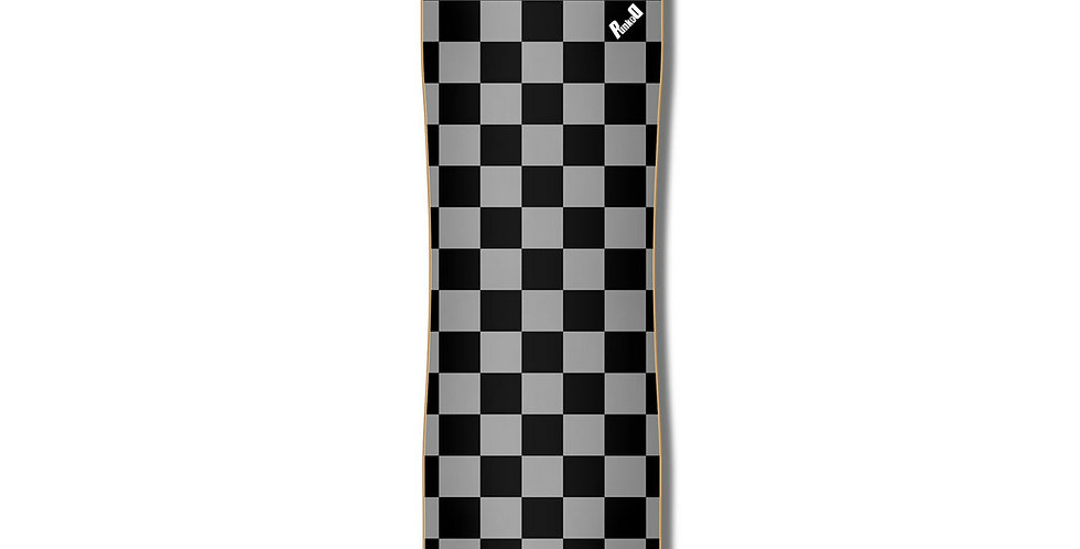 Yocaher Skateboards: Yocaher Lowrider Complete Longboard - Checker Silver