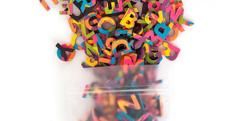 The Type Set CO - Soft Magnetic Letter Set Confetti Pop Sans Serif