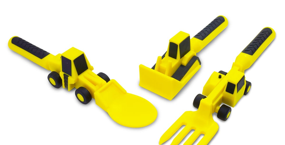 Constructive Eating: Set of 3 Contruction Utensils