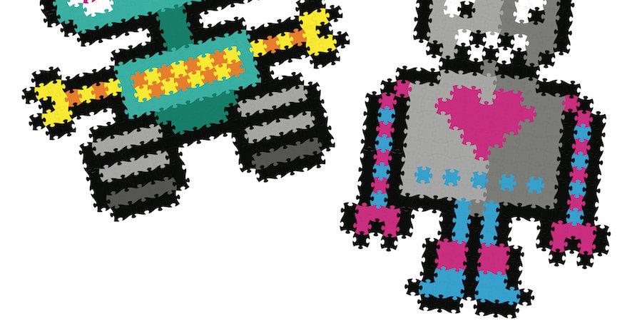 Fat Brain Toy Co: Jixelz 700 pc Set - Roving Robots
