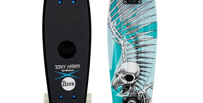 """Penny Skateboard - 22"""" Hawk Full Skull (Blue)"""
