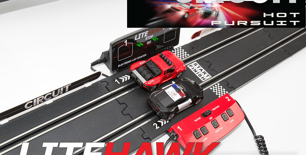 LiteHawk: CIRCUIT - HOT PURSUIT Slot Car Set