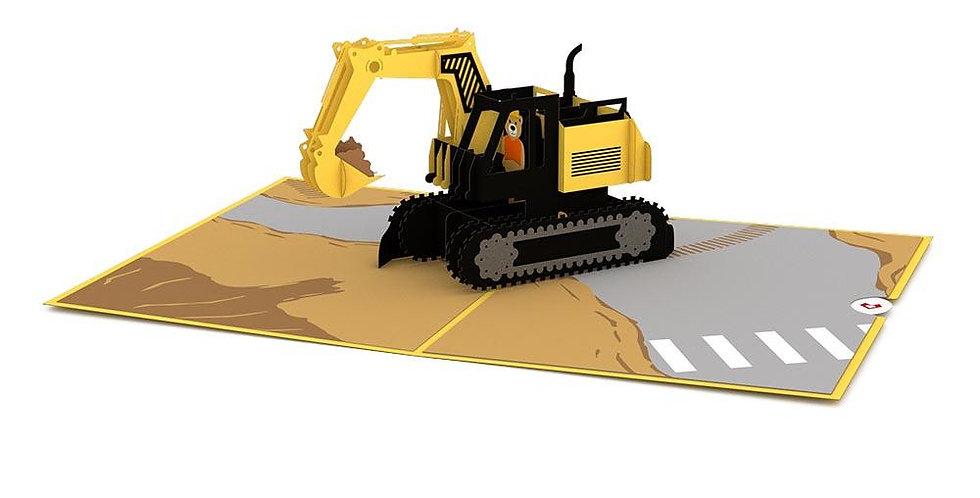Excavator 3D card