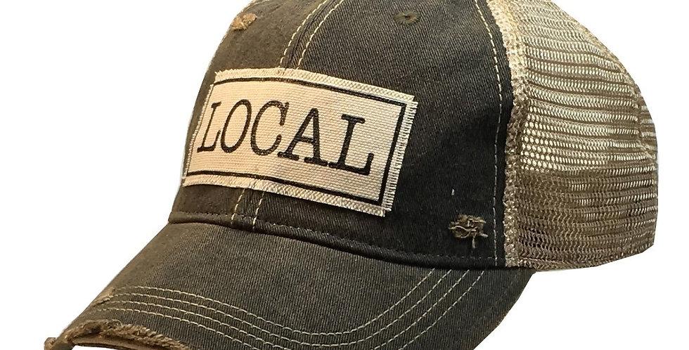 Vintage Life: Local Distressed Trucker Hat Baseball Cap