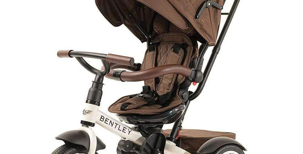 Bentley 6-in-1 Tricycle & Stroller - WHITE SATIN
