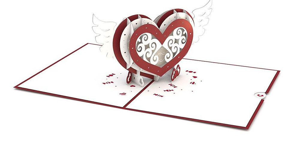 Winged Heart 3D card