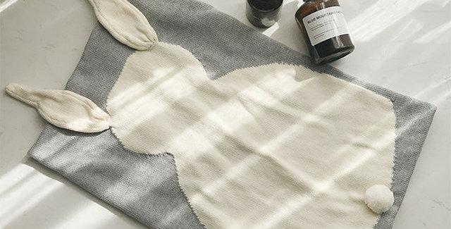 Mama Siesta: Bunny Lovey Blanket (Grey)