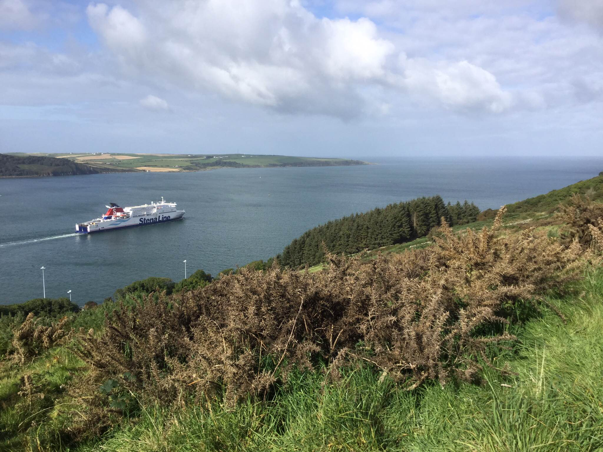 Cairn Ryan, ship entering Irish Sea