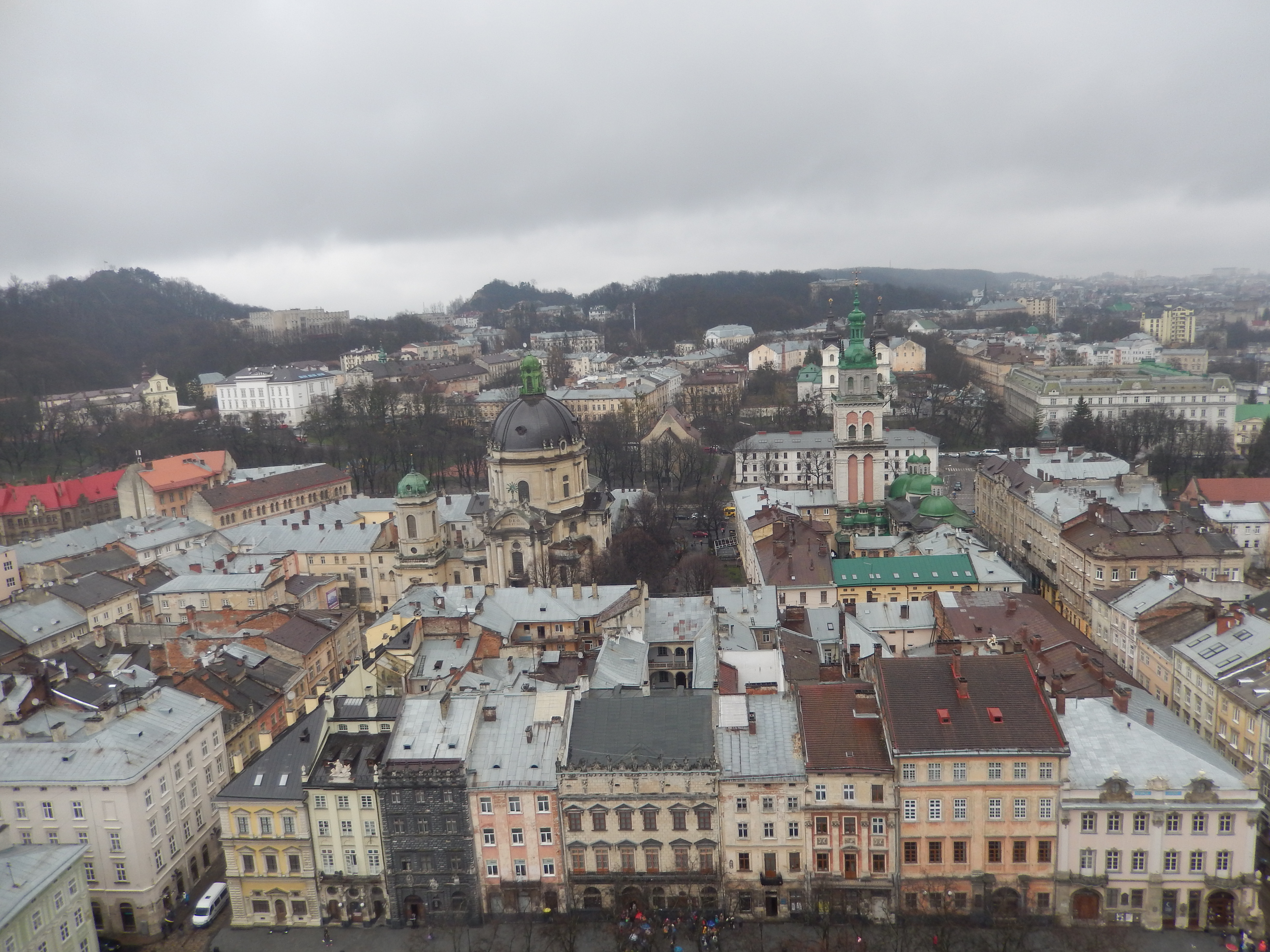 View of Lviv from the central square