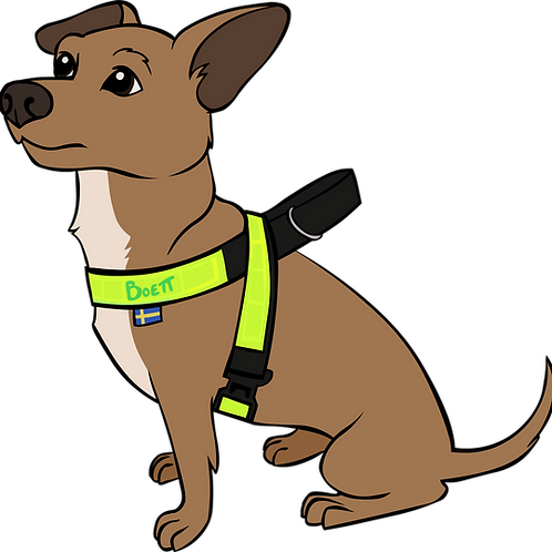 "Reflective Harness 1"" width- for small dogs"