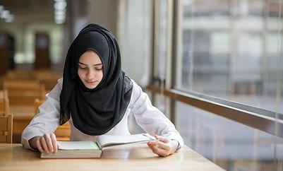 Muslim Girl Studying