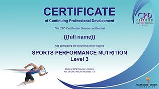 Marathon Sports Foundation - Sports Nutr