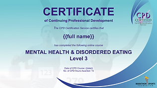 Mental Health Course - Marathon Sports F