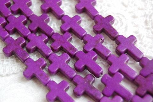 100 Purple Crosses