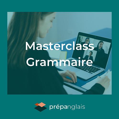 Masterclass grammaire