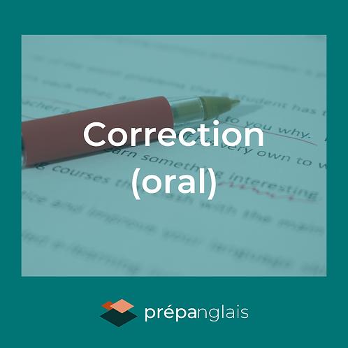 Correction (oral)