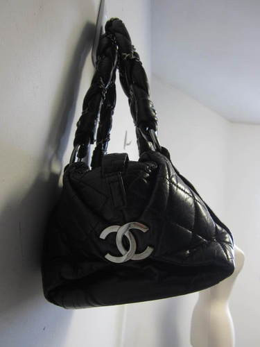 bd5154def77c $2,200 CHANEL black quilted distressed leather lady braid small tote bag  WOW! Bag is in GREAT condition! Hairline surface scratches on CC metal  hardware and ...