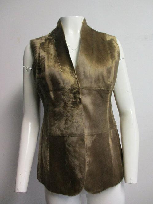 AKRIS light brown lambskin fur vest F 42/ US 10