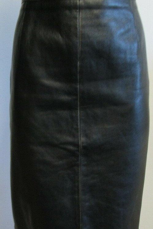 MIU MIU distressed black straight pencil skirt SZ 46