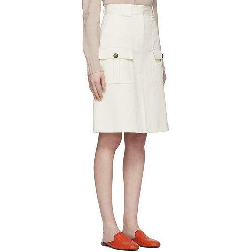 BOTTEGA VENETA Off-white Cargo Pockets Skirt SZ 44