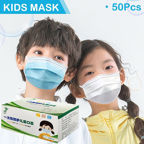 50/100/200pcs Kids Mask Disposable Face Mask Breathable Face Filter Nonwoven