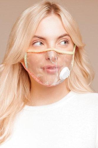 Clear Vinyl Face Mask W/ Breathable Valve Vent