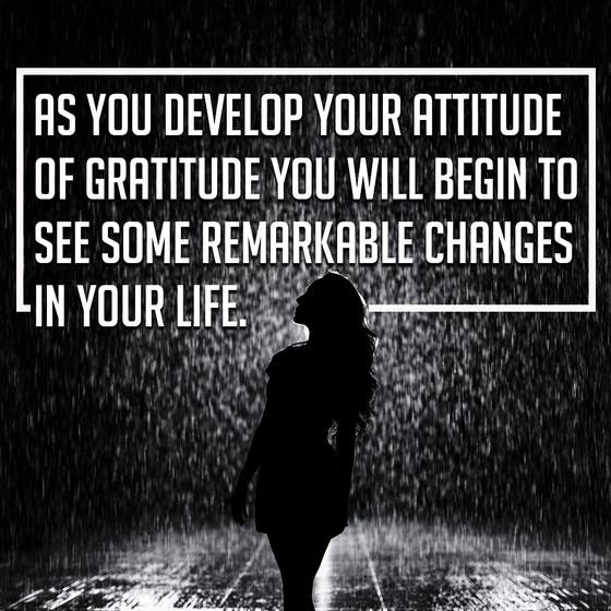 Attitude of Gratitude Series - Developing the Habits of Gratitude