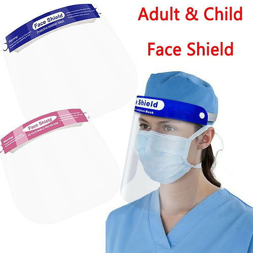 Transparent Face Shield Full Face Mask Dust-Proof Mask  Rotatable Protective