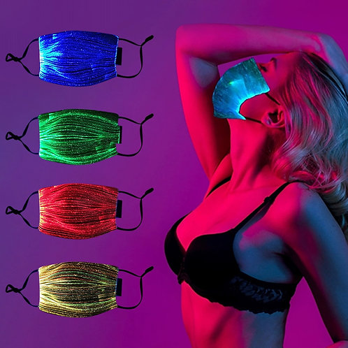 Replaceable LED  Mouth Face Masks Glowing Changeable Luminous USB Protective