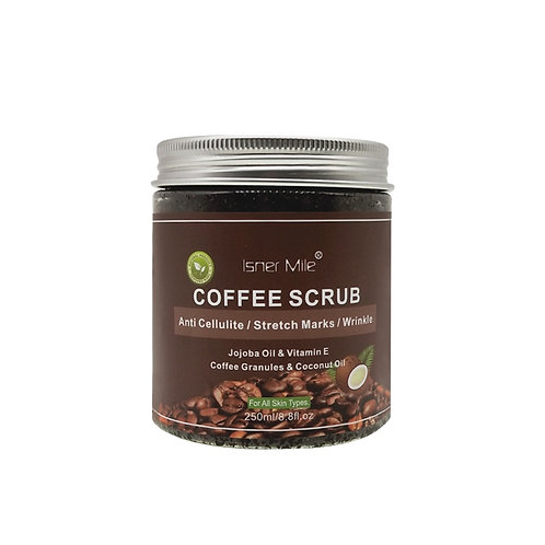 Coffee 100% Natural  Powerful Exfoliating Coconut Oil, With Sea Salt Scrub 250ml