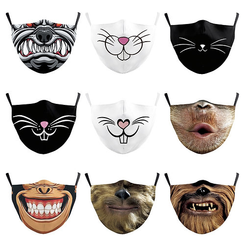 Charming Cat  Reusable Adult  Mask Breathable Protective Face Mouth Dust Proof