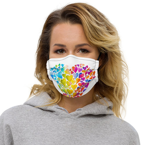 Multi Color Heart Mask