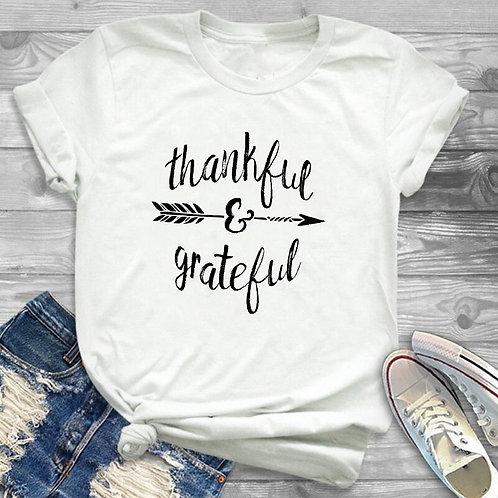 Women Thankful Grateful  T-Shirt