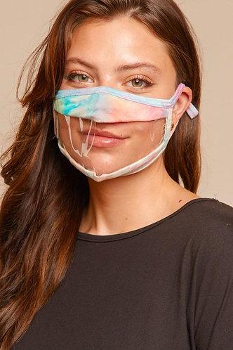 Clear Vinyl Adjustable Face Mask