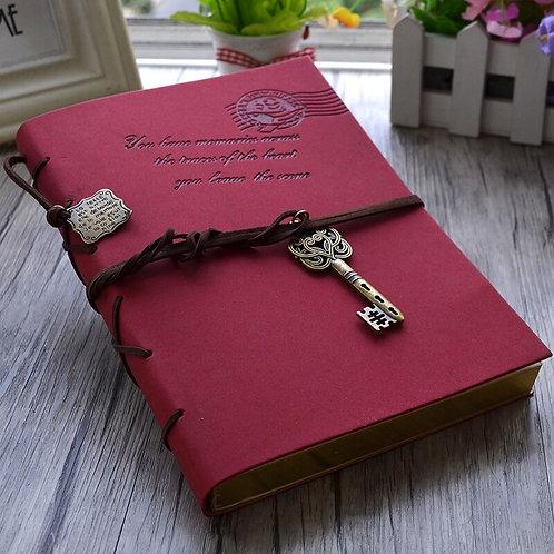 Mariyana Vintage Notebook  Magic Key String Retro Leather Blank