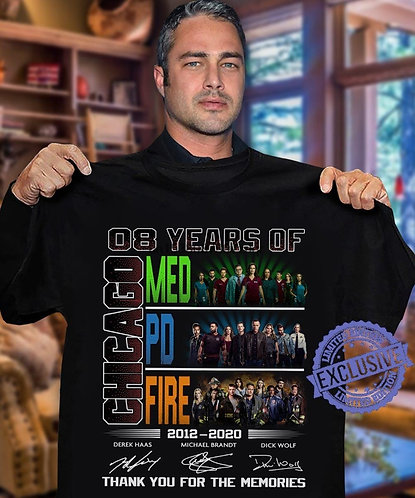 08 Years of Med Chicago Fire 2012 2020 Thank You for the Memories Shirt